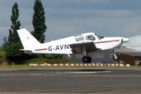 G-AVNS @ EGSX - Piper PA-28-140 arrives at North Weald on 2009 Air Britain Fly-in Day 1