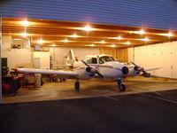 N3363P @ 5NC3 - Parked in Hangar-Night - by Ken