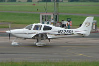 N225RL @ EGBJ - Cirrus SR22 at Staverton