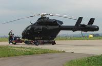 N903LF @ EGBJ - MD900 arrives at Staverton for Maintenance