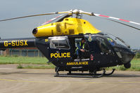 G-SUSX @ EGTB - Sussex Emergency Services Helicopter at Staverton