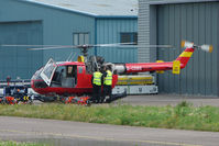 G-CDBS @ EGBJ - Bond Air Services Bo105DBS-4 at Staverton - by Terry Fletcher