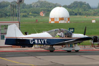 G-WAVT @ EGBJ - Robin at Staverton