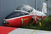 XW311 @ EGSX - Dismantled Jet Provost T5 at North Weald on 2009 Air Britain Fly-in Day 1