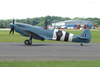 G-MKXI @ EGSX - Spitfire at North Weald on 2009 Air Britain Fly-in Day 1