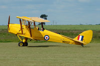 G-AOHY @ EGNW - Tiger Moth ex N6537 wears its previous marks at North Weald on 2009 Air Britain Fly-in Day 1