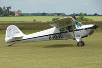 G-AKVO @ EGNW - Taylorcraft BC12D at Wickenby on 2009 Wings and Wheel Show