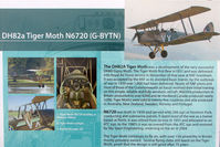 G-BYTN @ EGNW - History of 1939 Tiger Moth - formerly N6720 - marks stll worn at Wickenby on 2009 Wings and Wheel Show
