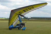 G-BYOV @ EGNW - Pegasus Flexwing at Wickenby on 2009 Wings and Wheel Show