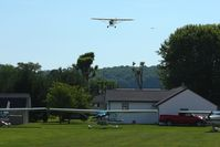 N6234H @ 2D7 - Final approach for 28 at Beach City during the Father's Day fly-in. - by Bob Simmermon