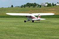 N88588 @ 2D7 - Departing 28 at the Beach City, Ohio Father's Day fly-in. - by Bob Simmermon