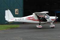 G-CFIY @ EGBO - Ikarus C42 at Wolverhampton Business Airport