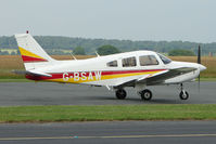 G-BSAW @ EGBO - Piper at Wolverhampton Business Airport