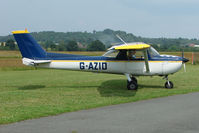 G-AZID @ EGBO - Cessna 150L at Wolverhampton Business Airport