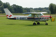 G-BNKC @ EGBS - Cessna 152 at Shobdon on the Day of the 2009 LAA Regional Strut Fly-in