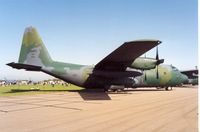 68-10935 @ EGDM - C-130E Hercules of 37th Airlift Squadron/435th Airlift Wing at the 1992 Air Tattoo Intnl at Boscombe Down. - by Peter Nicholson