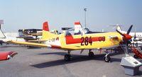 L-08 @ LFPB - Pilatus PC-7 of the KLu (RNethAF) at the Aerosalon 1989 Paris