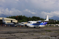 N467CS @ ORE - CASA taxies in to pick up a load of skydivers at Jumptown, Orange, MA - by Dave G