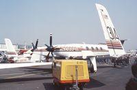N2000S @ LFPB - Beechcraft 2000 Starship 1 at the Aerosalon 1989 Paris