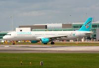 TC-TCE @ EGCC - Turkuaz Airlines Airbus A-321-211. previous ID: 6Y-JMD - by Chris Hall