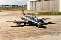 MM54483 @ EGVA - MB.339A of the Frecce Tricolori display team at the 1991 Intnl Air Tattoo at RAF Fairford. - by Peter Nicholson