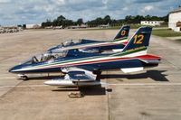 MM54484 @ EGVA - Another view of MB.339A number 12 of the Frecce Tricolori at the 1991 Intnl Air Tattoo at RAF Fairford. - by Peter Nicholson