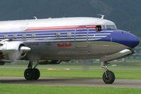 N996DM @ LOXZ - Red Bull (The Flying Bulls) Douglas DC6