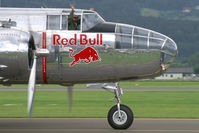 N6123C @ LOXZ - Red Bull (The Flying Bulls) North American B25 Mitchell