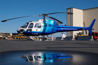 C-GGSW @ CYZF - Great Slave Helicopters AS350 - reflection