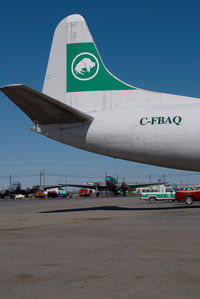 C-FBAQ @ CYZF - Buffalo Airways Lockheed Electra - by Dietmar Schreiber - VAP