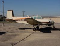 N11KM @ AJO - 1960 Beech H50 twin Bonanza with large & small registration @ photographer friendly Corona Municipal Airport, CA - by Steve Nation