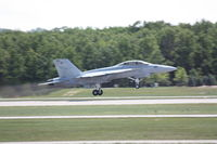 165877 @ TVC - VFA-122, NAS Lemoore, Departing RWY 28 - by Mel II