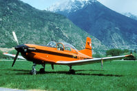A-925 @ LSMJ - During the WK'93 this PC-7 was parked in de fields just off the main road through the Rhone valley.
