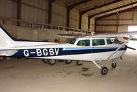 G-BGSV @ EGNY - Hangared aircraft at Beverley