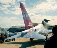 RA-43130 @ LFPB - Yakovlev Yak-130 MITTEN Prototype at the Aerosalon Paris 1997 - by Ingo Warnecke