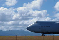 86-0015 @ HNL - C-5 Galaxy (60015) based at Travis AFB, CA, is taxiing out to Runway 8R at Honolulu Intl Aiport - by AirplaneJunky