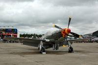 N167F @ EGSU - 'Old Crow'  at Duxford Flying Legends Air Show July 09 - by Eric.Fishwick