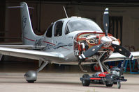 G-VBCA @ EGBJ - Cirrus SR22 on maintenance  at Gloucestershire (Staverton) Airport