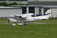 N1424C @ EGBJ - Cessna in for re-fuel at Gloucestershire (Staverton) Airport
