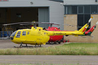 G-NAAB @ EGBJ - Bolkow Bo105 at Gloucestershire (Staverton) Airport