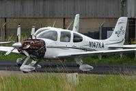 N147KA @ EGBJ - Cirrus SR22 on maintenance  at Gloucestershire (Staverton) Airport