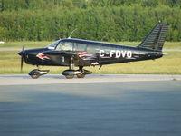 C-FDVO @ CZBF - Black Piper plane with flames design, model PA-28-140, built in 1968 - by Ernst Stavro Blofeld