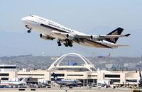 9V-SMS - Singapore 747-412, 9V-SMS departing 25L KLAX - by Mark Kalfas