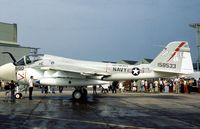 158533 @ MHZ - A-6E Intruder of Attack Squadron VA-176 aboard USS America at the 1976 Mildenhall Air Fete. - by Peter Nicholson