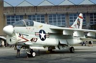 159977 @ MHZ - A-7E Corsair of Attack Squadron VA-87 aboard USS America at the 1976 Mildenhall Air Fete. - by Peter Nicholson