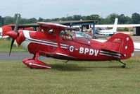 G-BPDV @ EGSF - Pitts S-1S competing in the 2009 Mazda Aerobatic Championships held at Peterborough Conington