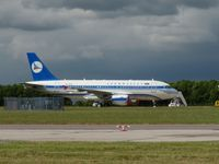 4K-AZ01 @ EGSS - Visiting Stansted - by Andy Parsons