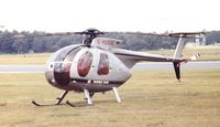 G-HOOK @ EGLF - Hughes 500D at Farnborough International 1980