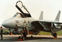 161435 @ MHZ - F-14B Tomcat of Fighter Squadron VF-74 aboard USS Saratoga at the 1992 Mildenhall Air Fete. - by Peter Nicholson