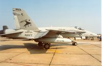 163477 @ MHZ - F/A-18C Hornet of VFA-81 aboard USS Saratoga at the 1992 Mildenhall Air Fete. - by Peter Nicholson